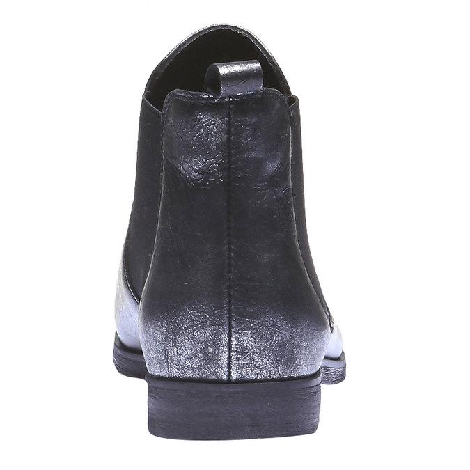 Kožené dámské Chelsea bata, černá, 594-6107 - 17