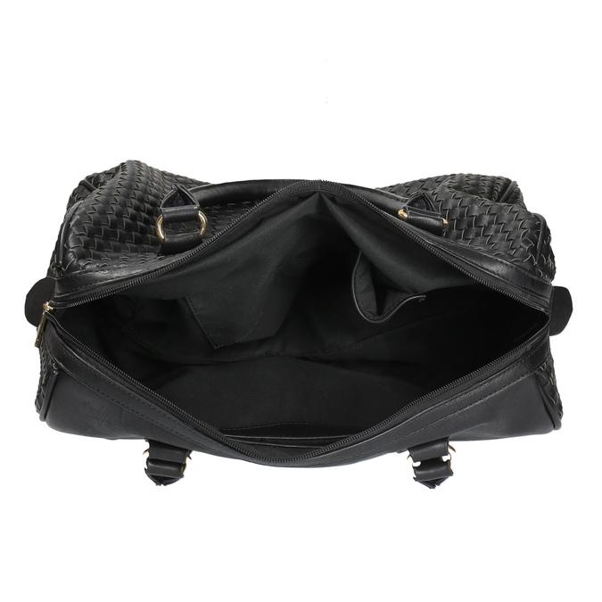 Bowling kabelka s propleteným vzorem bata, černá, 961-6629 - 15