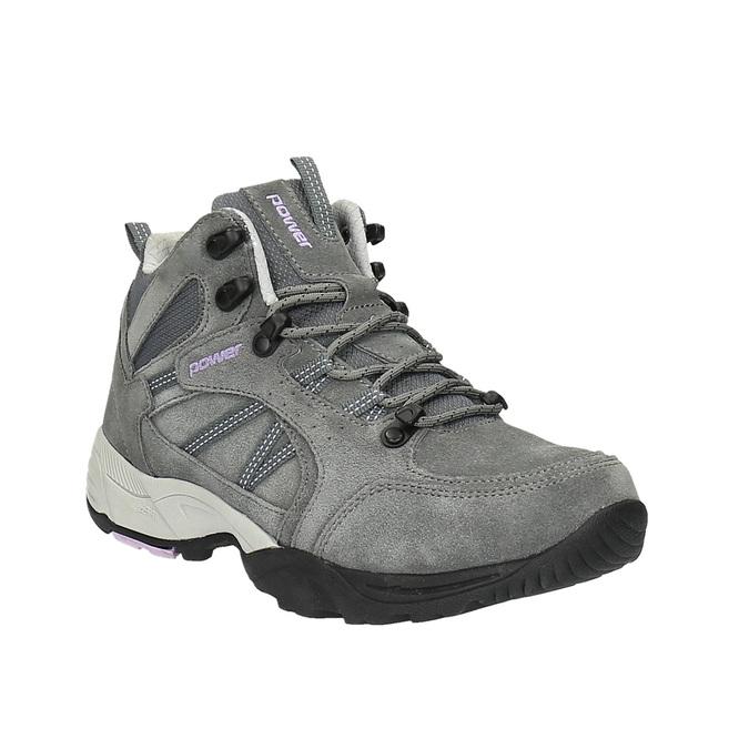 Kožená kotníčková obuv v Outdoor stylu power, šedá, 503-2830 - 13