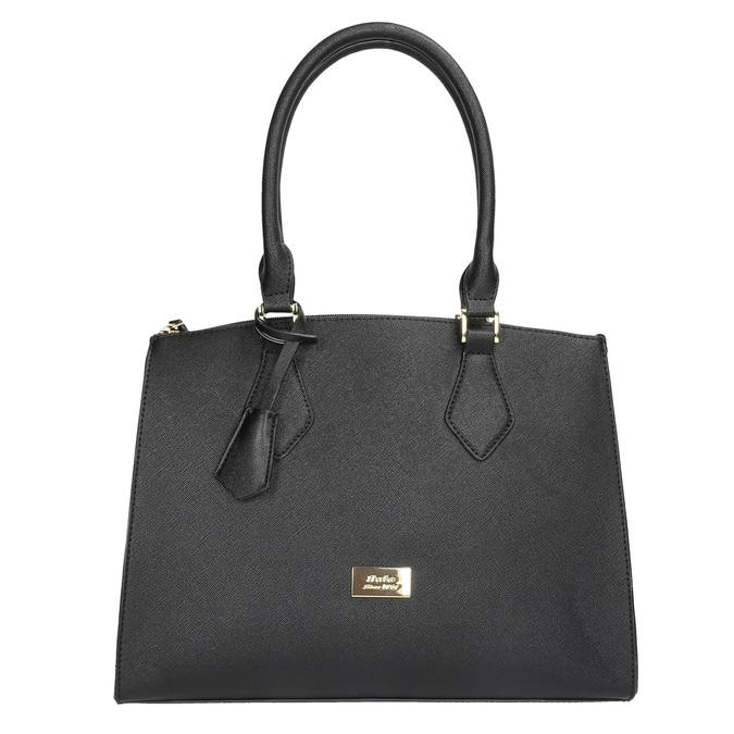 Černá dámská kabelka s pevnými uchy bata, černá, 961-6646 - 19