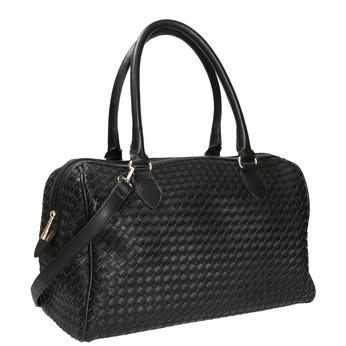 Bowling kabelka s propleteným vzorem bata, černá, 961-6629 - 13