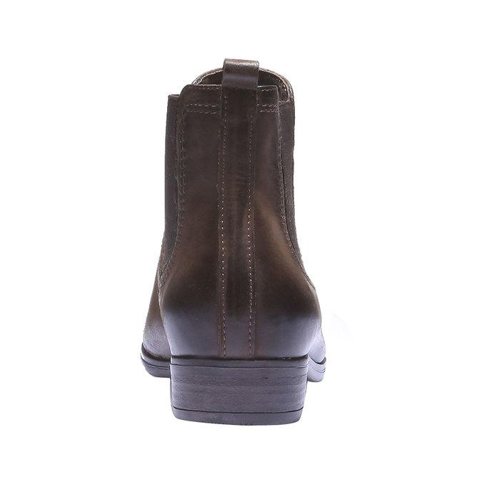 Dámské kožené Chelsea bata, hnědá, 594-4110 - 17