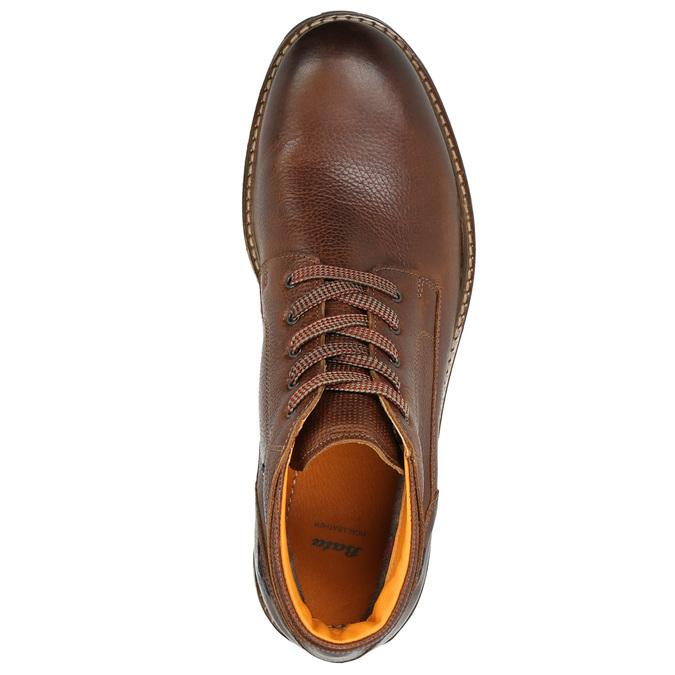 Pánská zimní kožená obuv bata, hnědá, 894-3672 - 26