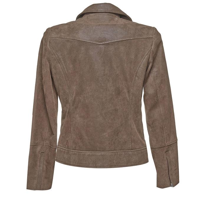Dámská kožená bunda bata, hnědá, 973-4107 - 26