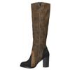 Kozačky na širokém podpatku bata, hnědá, 799-3611 - 26