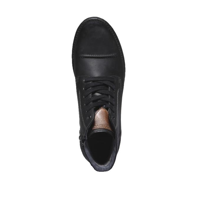 Ležérní kožená obuv bata, černá, 894-6555 - 19