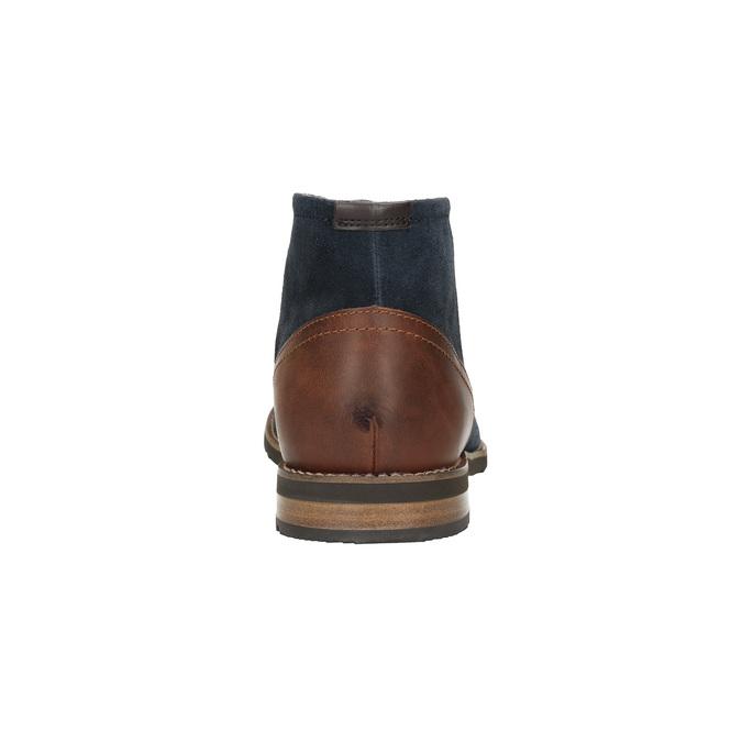Kotníčková obuv z broušené kůže rockport, modrá, 826-9001 - 17