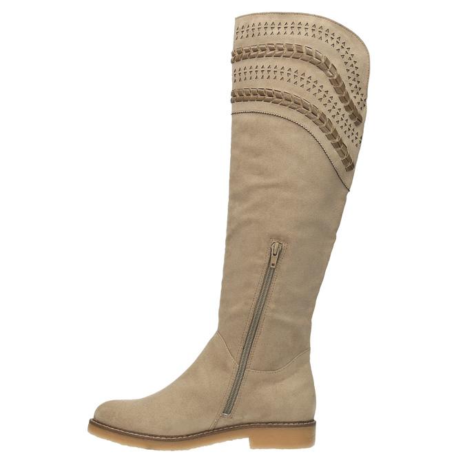Kozačky nad kolena bata, béžová, 599-2602 - 19