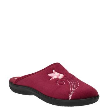 Dámská domácí obuv s výšivkou bata, červená, 579-5603 - 13