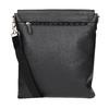 Kožená Crossbody taška s klopou picard, černá, 964-6026 - 19