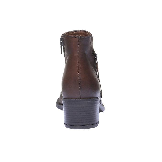 Kožená kotníčková obuv bata, hnědá, 694-4166 - 17