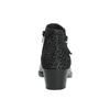 Kožená kotníčková obuv na nízkém podpatku bata, černá, 696-6613 - 17