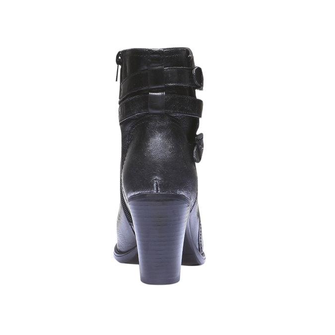 Kožené kotníkové kozačky bata, černá, 794-6100 - 17