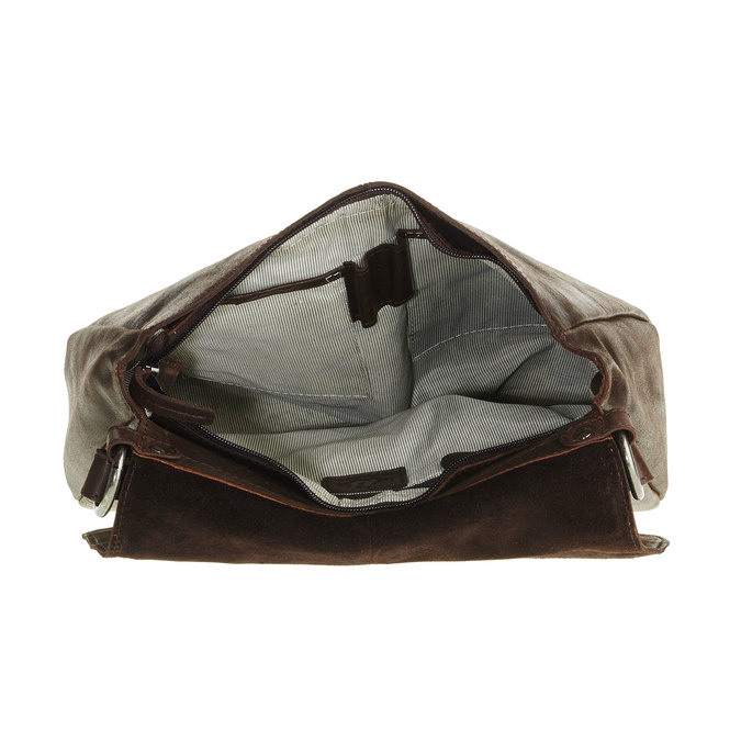 Kožená kabelka s klopou bata, hnědá, 964-4133 - 15