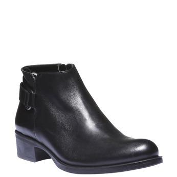 Kožené kotníkové boty s páskem bata, černá, 694-6159 - 13