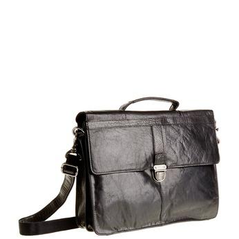 Kožená aktovka bata, černá, 964-6138 - 13