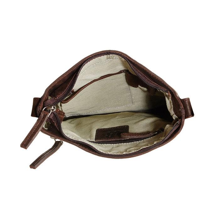Kožená Crossbody taška bata, hnědá, 964-4113 - 15