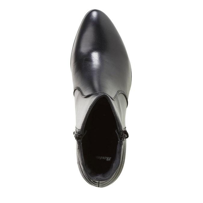 Kožené kotníkové kozačky se zipy bata, černá, 694-6105 - 19