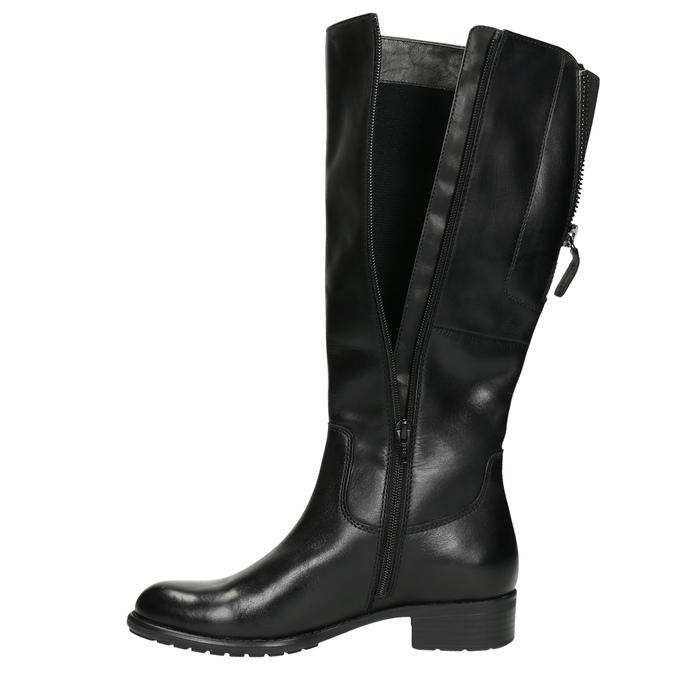 Dámské kožené kozačky černé bata, černá, 596-6604 - 26
