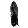 Kožená kotníčková obuv na podpatku bata, černá, 796-6609 - 19