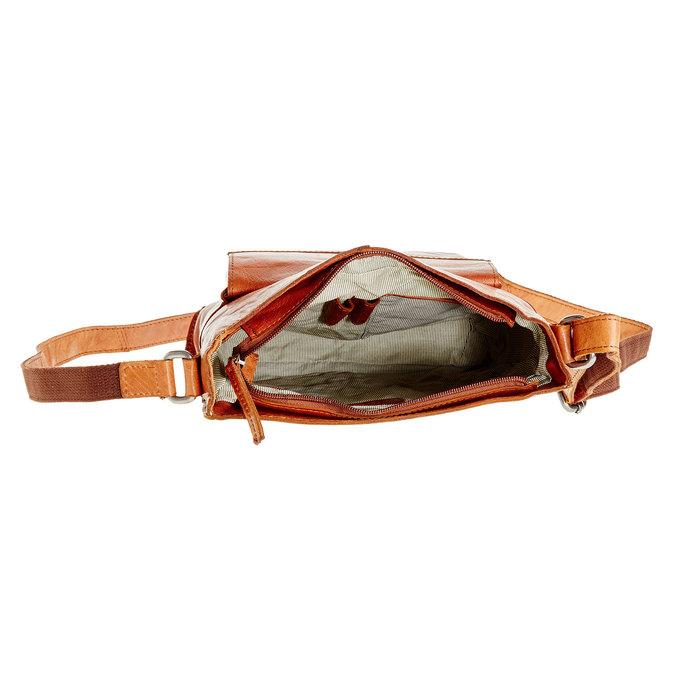 Pánská kožená  Crossbody taška bata, hnědá, 964-3141 - 15