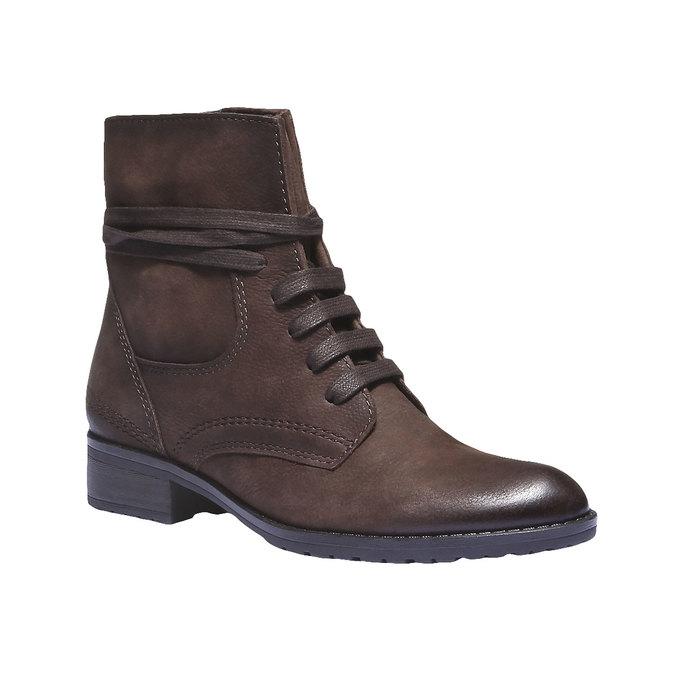 Dámská kožená šněrovací obuv bata, 596-2100 - 13