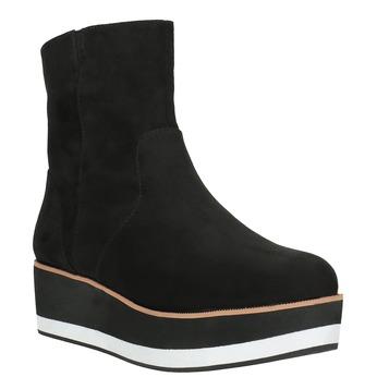 Kotníčková obuv na flatformě bata, černá, 699-6601 - 13