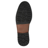 Kožená kotníčková obuv pánská bata, černá, 826-6642 - 26