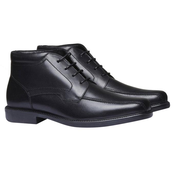 Kožená kotníčková obuv bata, černá, 894-6242 - 26
