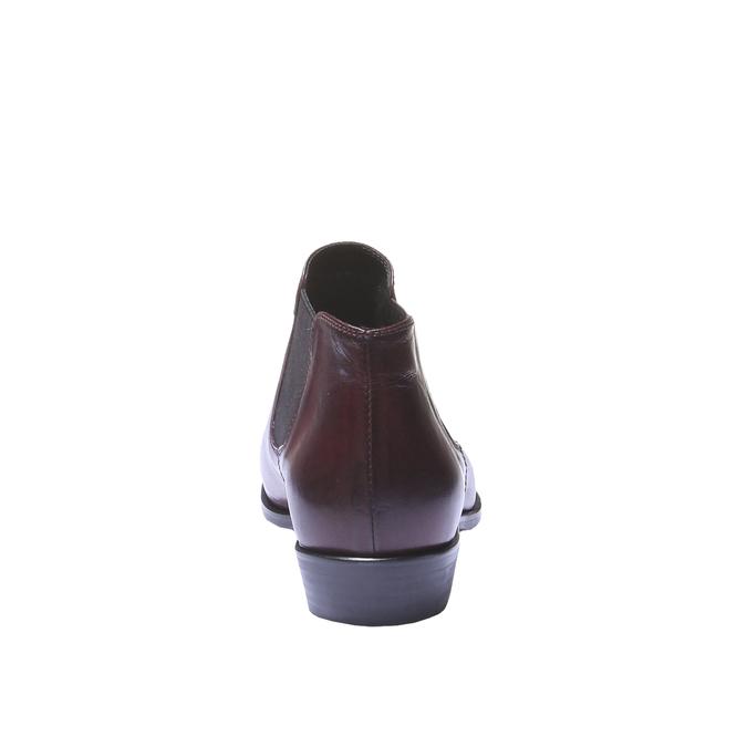 Kožená kotníčková obuv ve stylu Chelsea Boots bata, červená, 594-5106 - 17