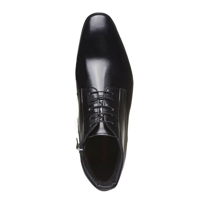 Kožená kotníčková obuv conhpol, černá, 894-6103 - 19