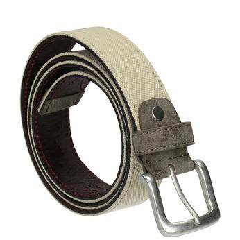Ležérní textilní opasek bata, béžová, 959-8261 - 13