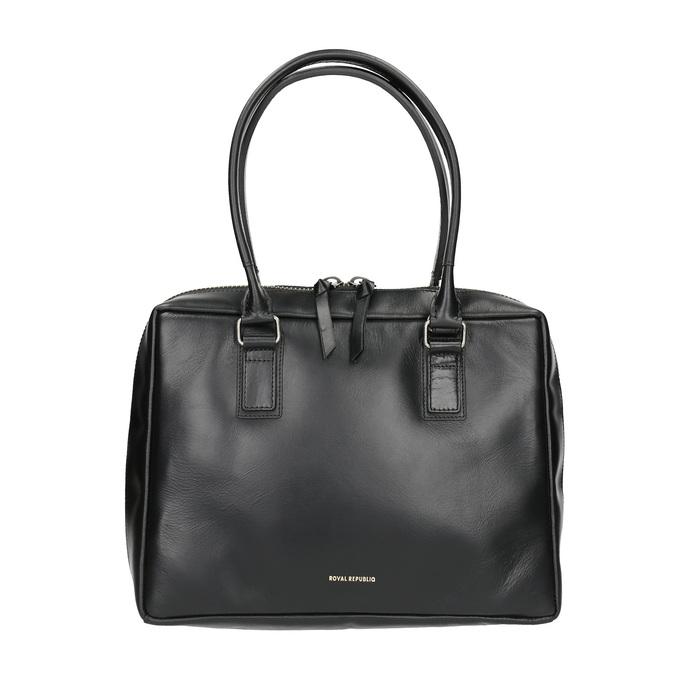 Černá kožená kabelka s pevnými uchy royal-republiq, černá, 964-6014 - 26