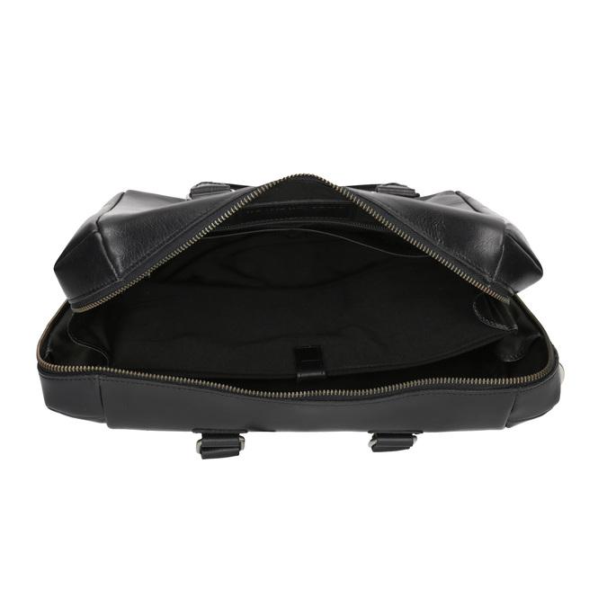 Kožená kabelka s odnímatelným popruhem royal-republiq, černá, 964-6039 - 15