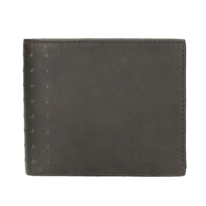 Kožená peněženka s perforací bata, černá, 944-6175 - 26
