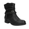 Černé kotníčkové kozačky bata, černá, 591-6610 - 13