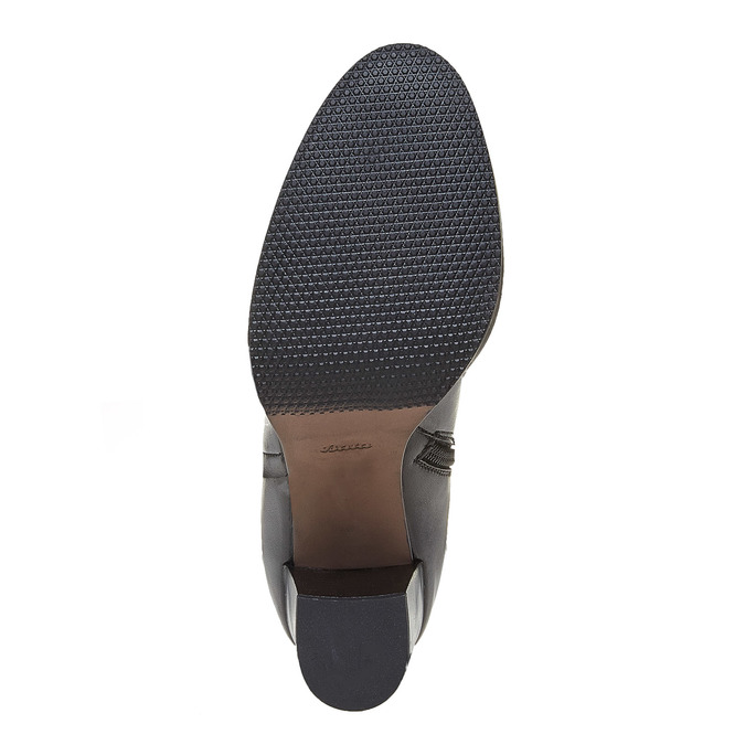 Kožené dámské kozačky bata, černá, 794-6447 - 26