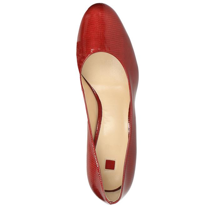 Dámské kožené lodičky hogl, červená, 728-5003 - 19