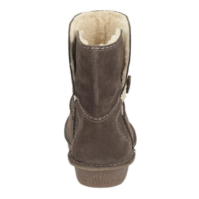 Kožené kotníkové boty clarks, 593-8101 - 17