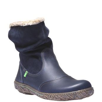 Kožená kotníčková obuv el-naturalista, fialová, 593-9001 - 13