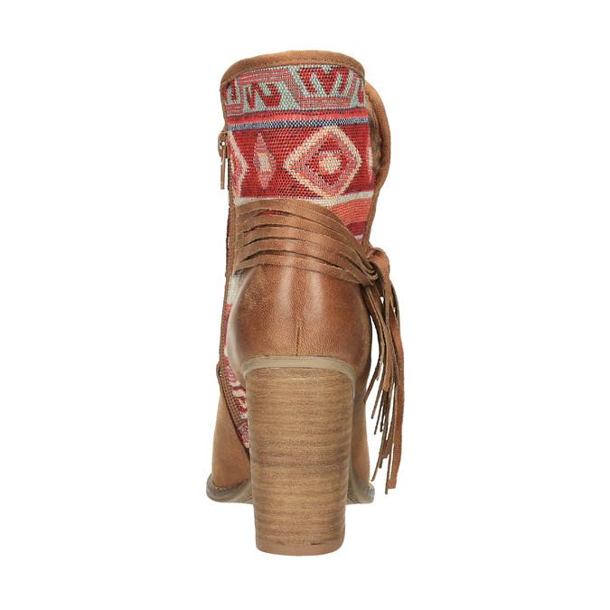 Kotníčkové kozačky ve Western stylu se zateplením bata, hnědá, 699-4603 - 17