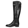 Dámské kožené kozačky ke kolenům bata, černá, 594-6605 - 19