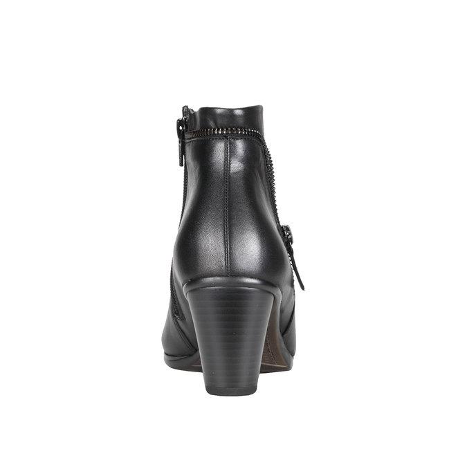 Kožená kotníčková obuv se zipem gabor, černá, 794-6621 - 17