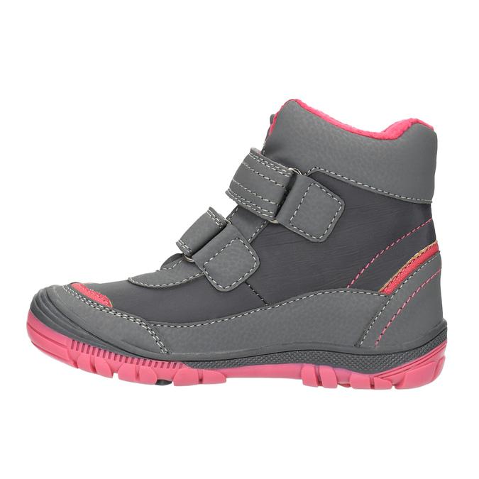 Kotníčková dětská obuv mini-b, šedá, 299-2610 - 26
