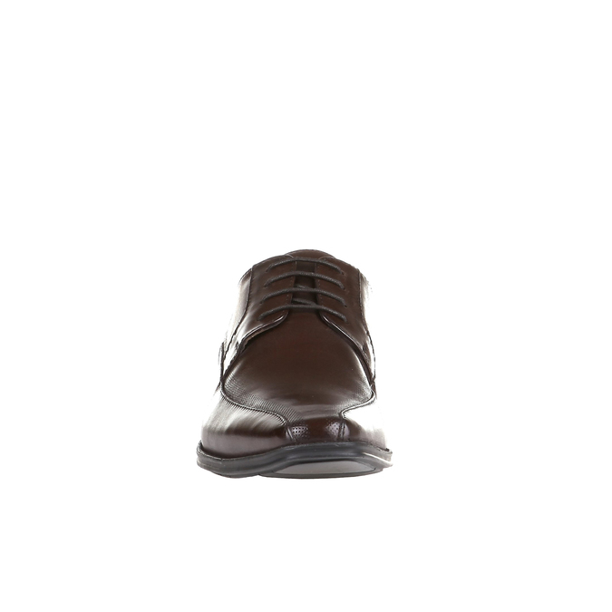 Ležérní kožené polobotky na výrazné podešvi bata, hnědá, 824-4698 - 16