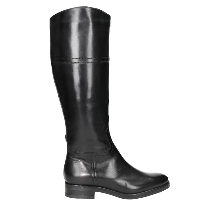 Kožené dámské kozačky bata, černá, 594-6606 - 26
