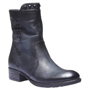 Kožená kotníčková obuv bata, modrá, 596-9101 - 13