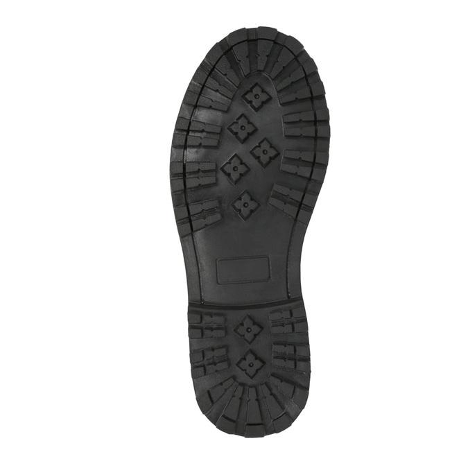 Dětská kožená kotníčková obuv mini-b, šedá, 394-2316 - 26