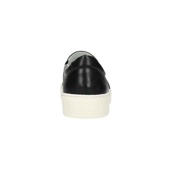 Pánské kožené Slip-on bata, černá, 844-6630 - 17