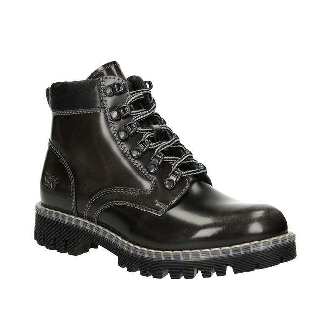 Kožená dámská zimní obuv weinbrenner, zelená, 596-7634 - 13